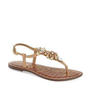 Sam Edelman 'Grayson' Crystal Flower Flat Sandal